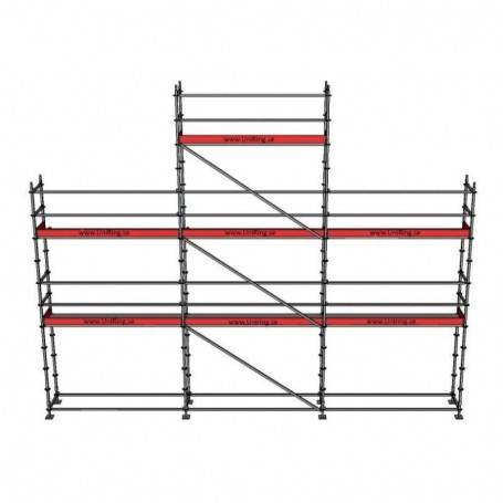 Paket 6 + 8 x 9 m 73 cm stålplank
