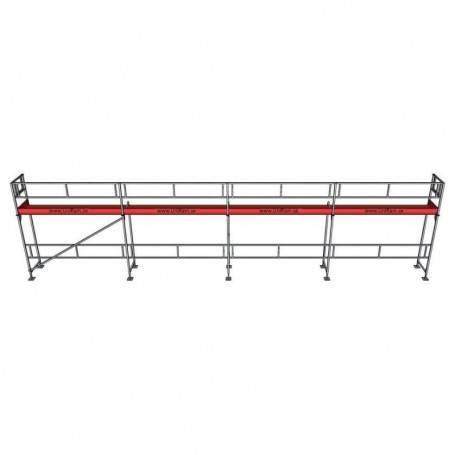 UniRam Alu Paket 4 x 12 m 73 cm stålplank