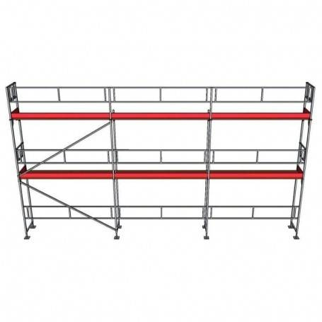 UniRam Alu Paket 6 x 9 m 73 cm stålplank
