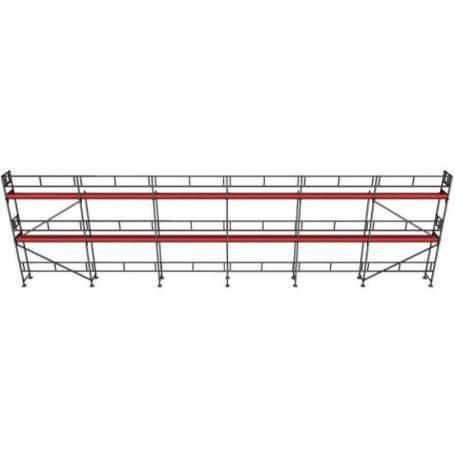 UniRam Alu Paket 6 x 18 m 73 cm stålplank