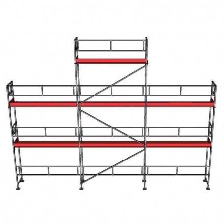 UniRam Alu Paket 6 + 8 x 9 m 73 cm stålplank