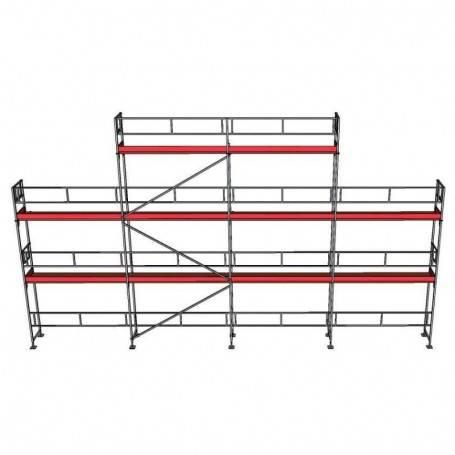 UniRam Alu Paket 6 + 8 x 12 m 73 cm stålplank
