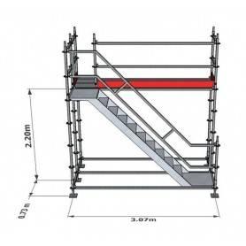 Trapptorn till Modulställning 2 m - Uniring