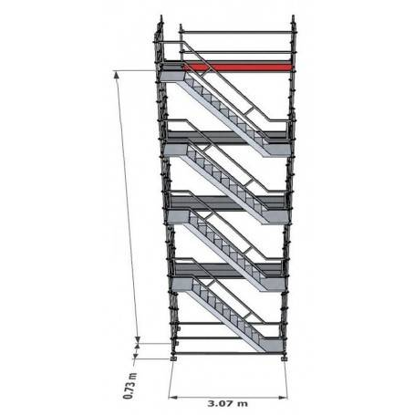 Trapptorn till Modulställning 8 m - Uniring
