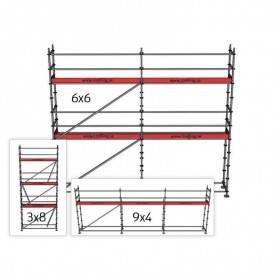 Villapaket 2M, 4 + 6 x 9 m 73 cm stålplank