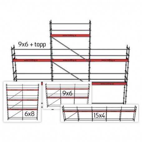 Villapaket 3M, 4 + 6 + 8 x 15 m 73 cm stålplank